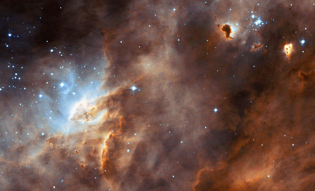 Hubble studies sequences of star formation in neighbouring galax